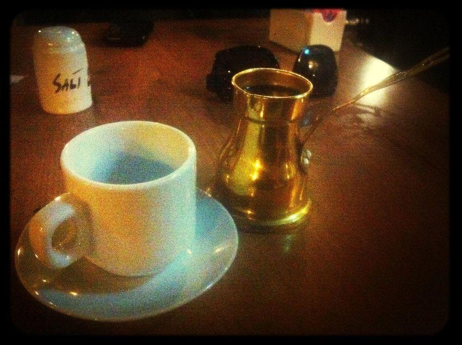 Drinking Coffee at Jerusalem Hotel Drinking Coffee