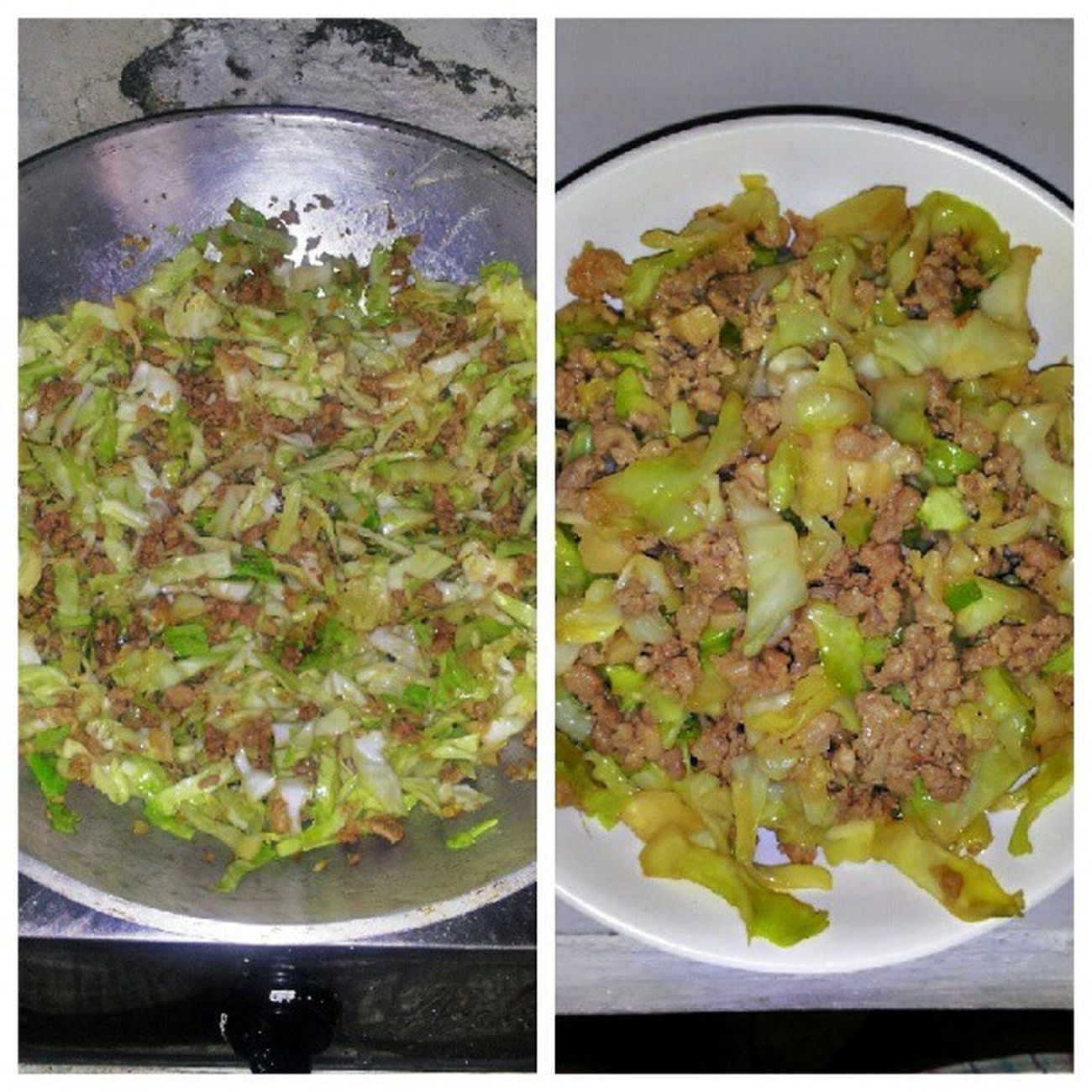 What I cooked for lunch yesterday, Pork and Cabbage Stir Fry. Latepost Foodcreativity Foodie Foodgasm foodstagram foodography fooddiary ilovefood ilovetoeat ilovetocook healthyfood goodeats nomnomnom yumyumyum delicioso
