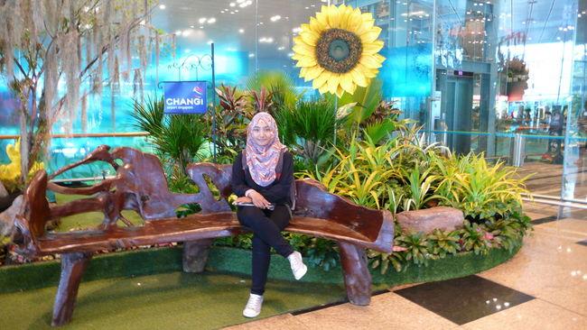 Relaxing at Changi Airport