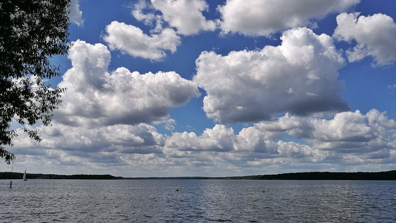 sky, cloud - sky, nature, tranquility, beauty in nature, no people, water, outdoors, scenics, day, tree