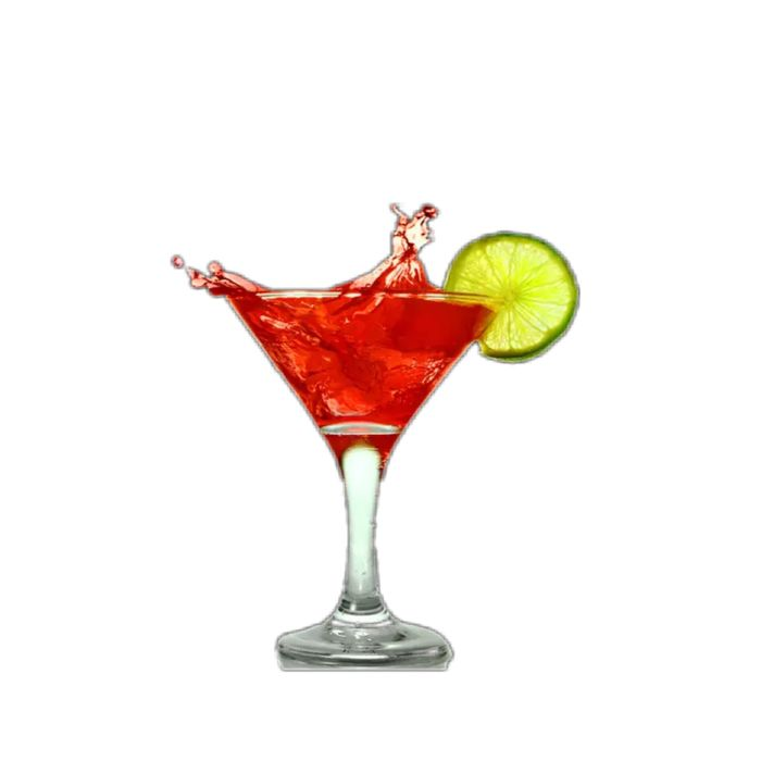 Cocktail Drink Alcohol Refreshment White Background Lime Studio Shot Food And Drink Cut Out Shot Glass SLICE Drinking Glass Martini Glass Red Party - Social Event Freshness Martini Tequila - Drink No People Full Length