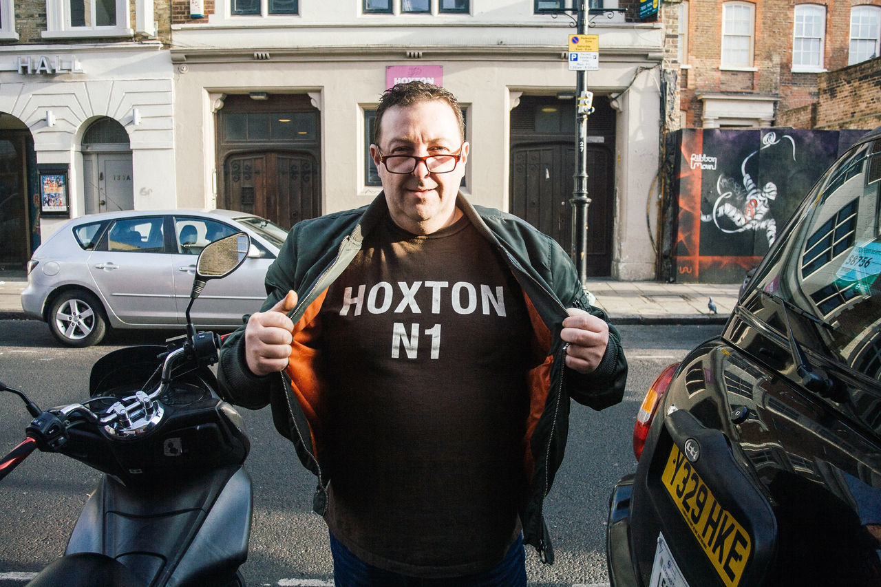 Hoxton Cabbie, Hoxton Street. London Adult Adults Only Cab Driver Day Eyeglasses  Hoxton London Mature Adult Mode Of Transport One Man Only One Person Only Men Outdoors People Portrait Street Photography Taxi Taxi Driver Text