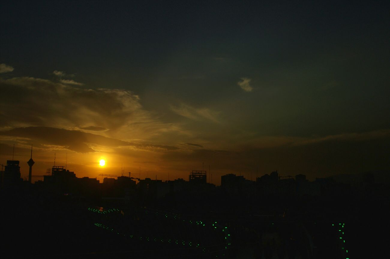 Iran Tehran Tabiat Bridge Sunset Photography Canon ایران تهران پل طبیعت آب و آتش غروب