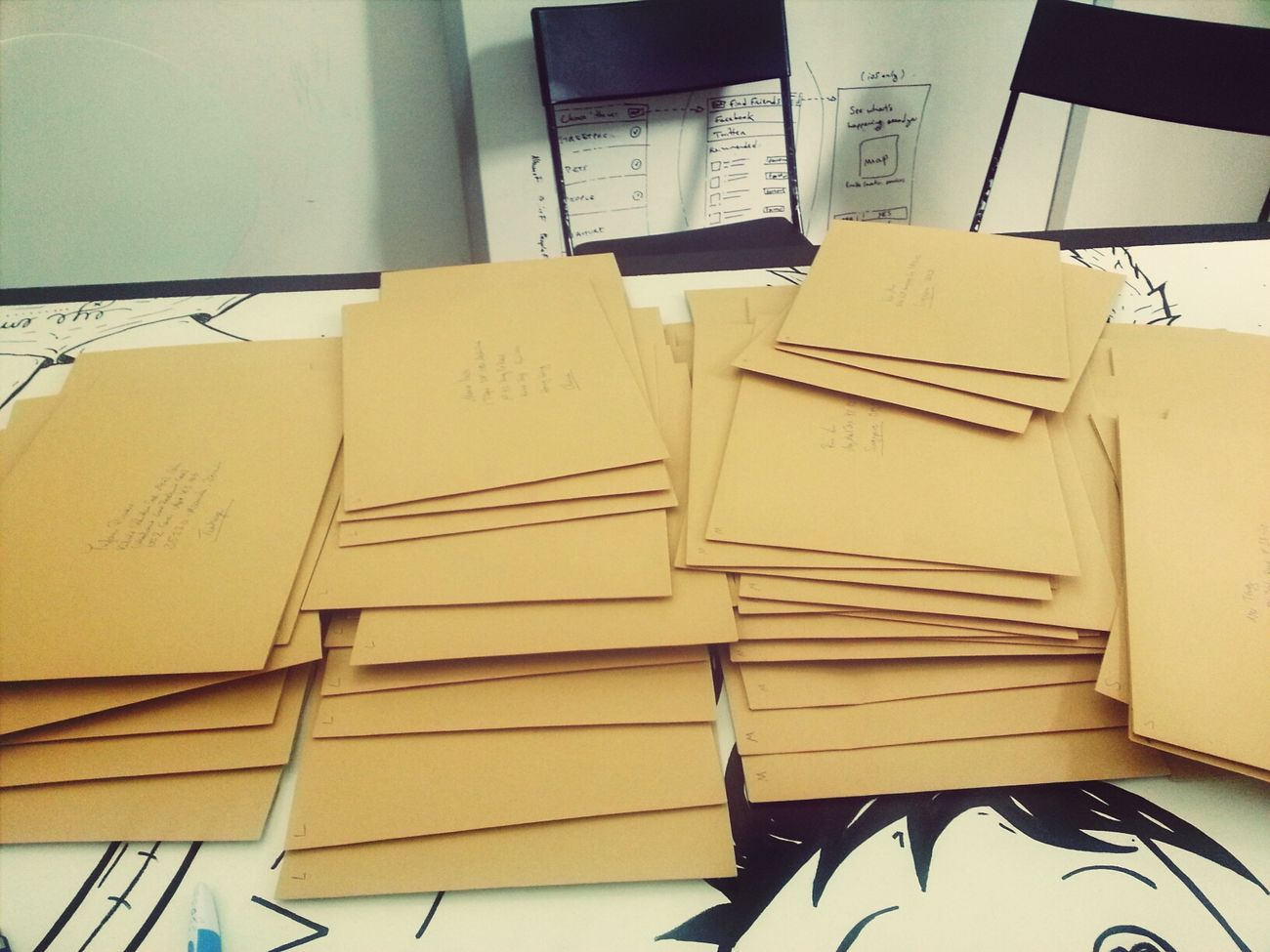 preparing the goodie packs for all our lovely translators Goodie Pack