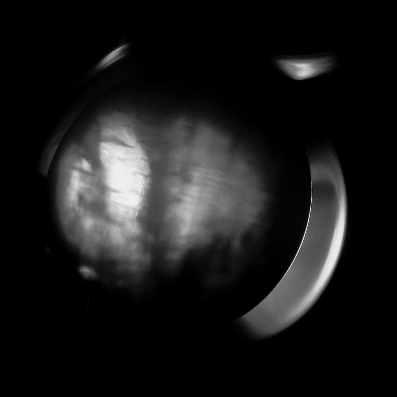 Lunar Eclipse Light And Shadow Abstract Dark Black And White Ghost