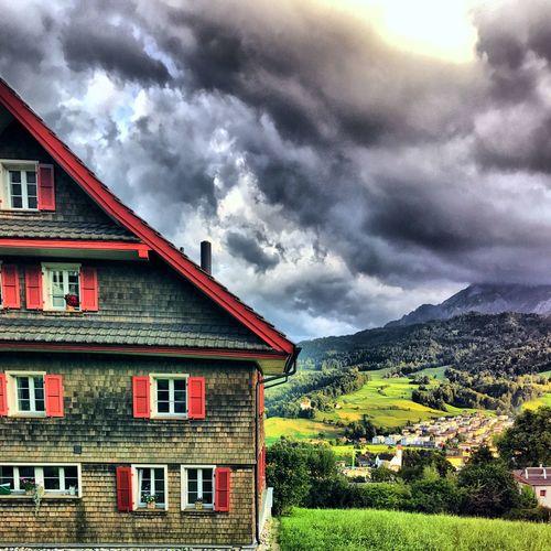 Switzerland Kriens Storm Green Green Color Pilatus Clouds Building Exterior Built Structure House Architecture Sky Cloud - Sky No People Weather Outdoors Nature Scenics Landscape Rural Scene