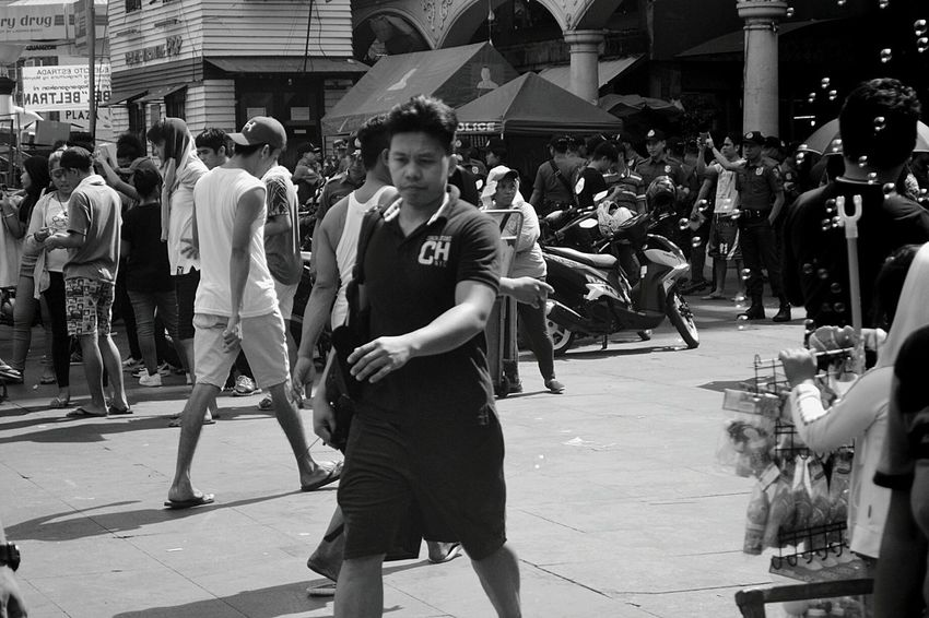 Welcome To Black One Person Only Men People Day Outdoors Lifestyles Quiapo QuiapoManila Men Real People The Street Photographer - 2017 EyeEm Awards