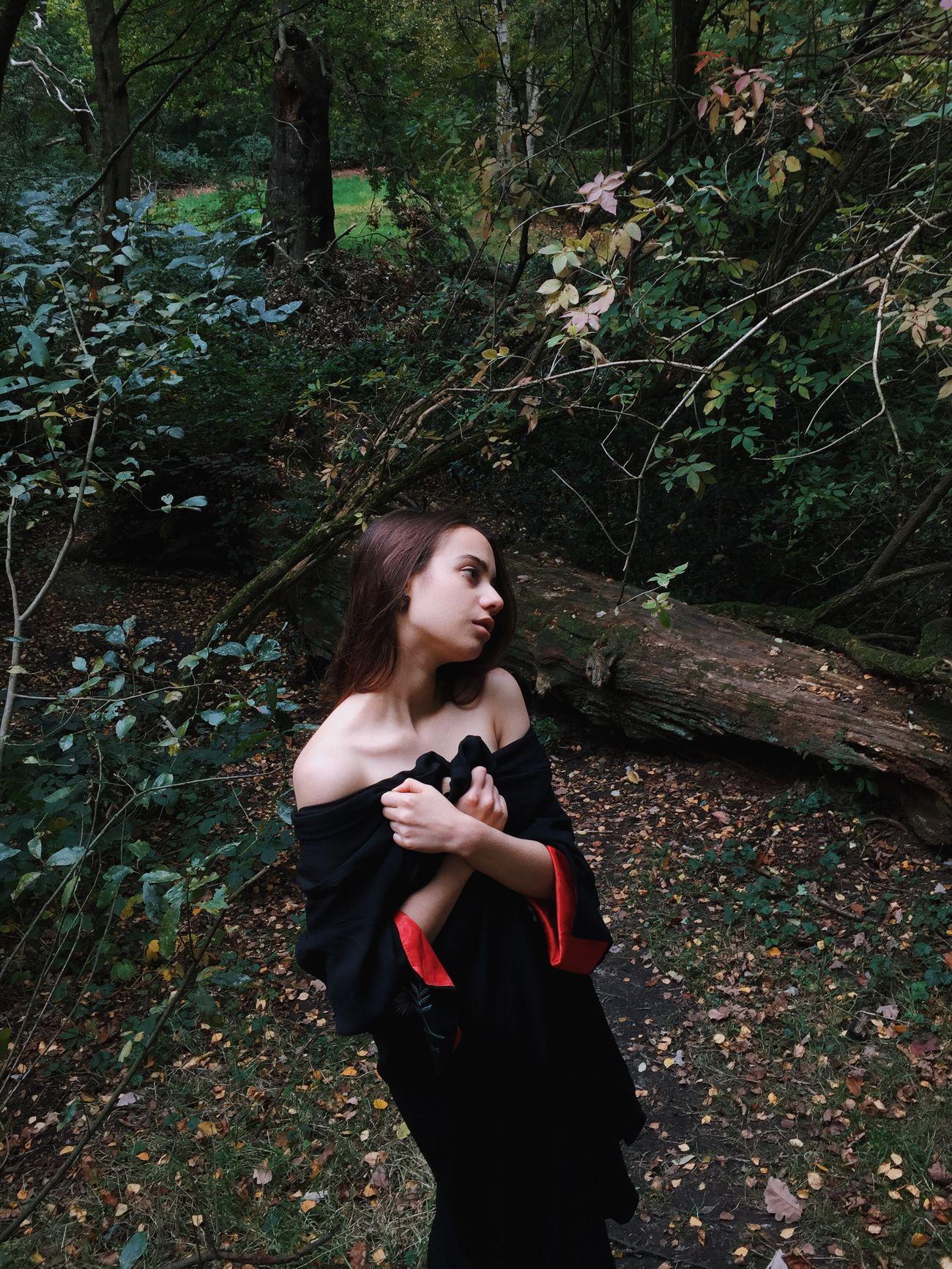 Lizzy in London in the Woods Model Portrait Of A Woman