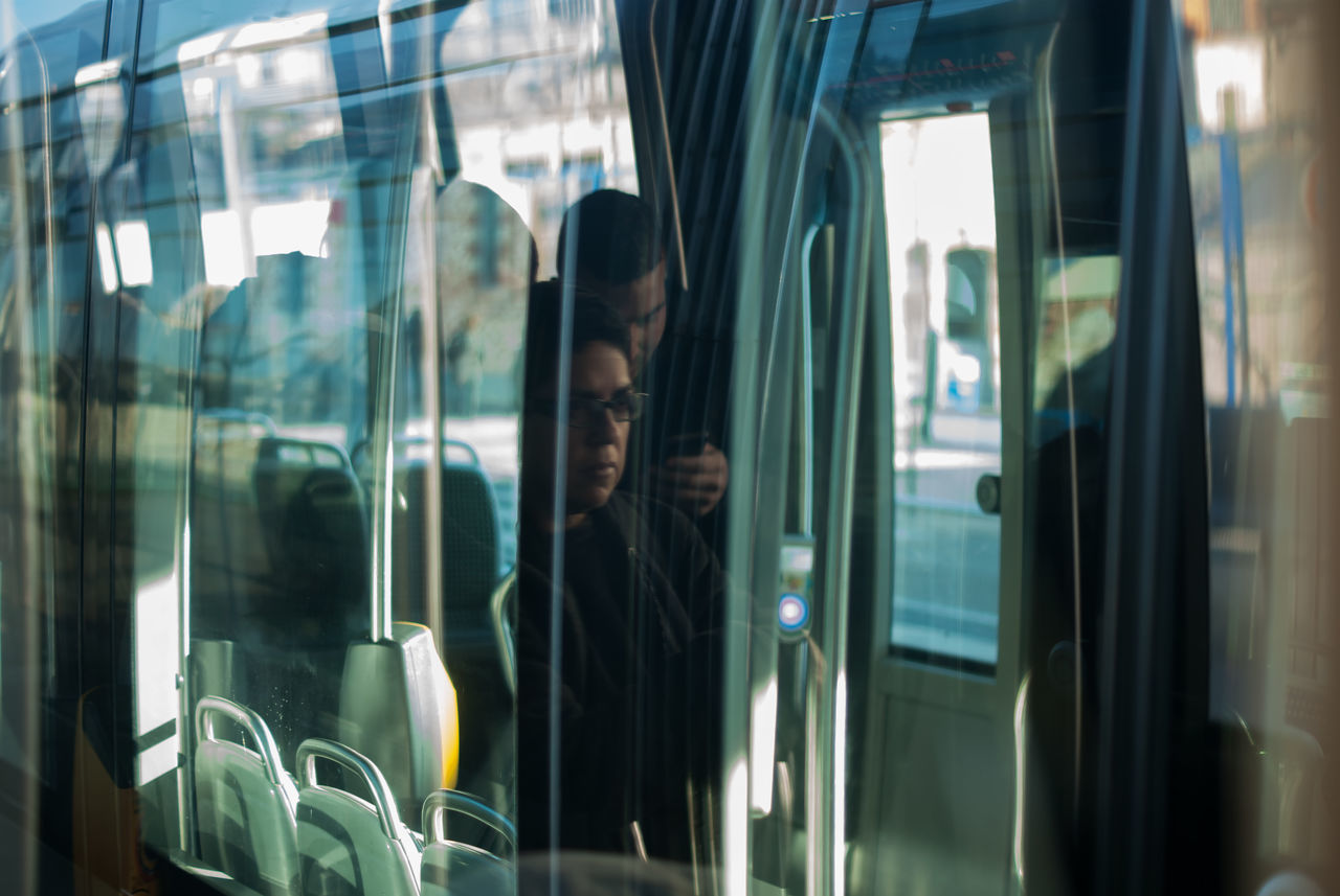 Le sourire voyageur ????EyeEmNewHere Glass - Material Window Transportation Reflection Travel Mode Of Transport One Person Vehicle Interior Public Transportation Subway Train Passenger People