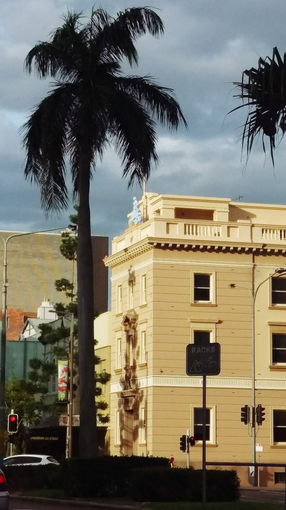 Old stone building in tropical city Architecture Tree Palm Tree Built Structure Building Exterior Façade Travel Destinations History Business Finance And Industry Outdoors No People Arts Culture And Entertainment City Vacations Sky Politics And Government Cityscape Day