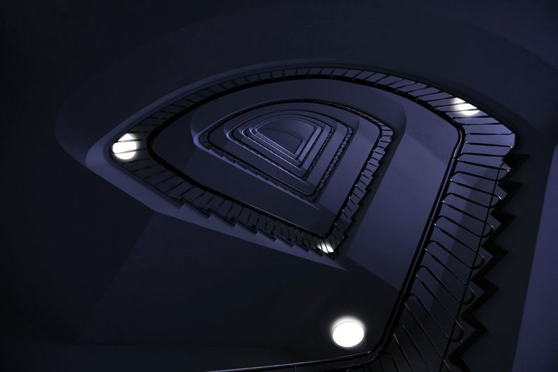 Dark side. Staircaseporn Staircase Vertigo Architecture Minimalism Symmetry Design Structures Lookup Your Design Story ARCHITECT Symmetrical Architecturelovers Art The Architect - 2016 EyeEm Awards Minimal Germany Ruhrgebiet Essen Staircase Lookingup