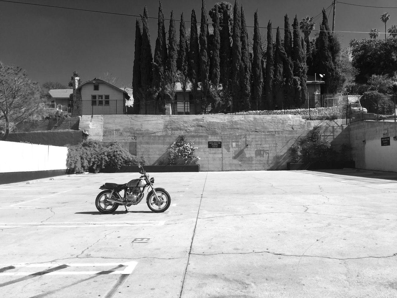Echo Park, LA Mode Of Transport Blackandwhite California Losangeles Bw_collection EyeEm Best Shots Echo Park  Motorcycle Shootermag