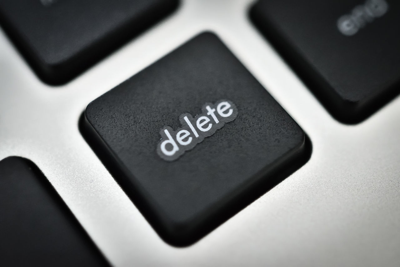 The Delete Key Close-up Computer Computer Keyboard Confidential Cyber Information Cyber Risk Cyber Security Delete Delete Key Emails Erase Information Keyboard No People Privacy Remove RISK Secret Security Technology Top Secret