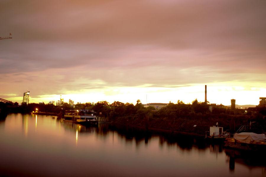 Hotpixel Reflection Built Structure Cloud - Sky No People River Sky Sunset