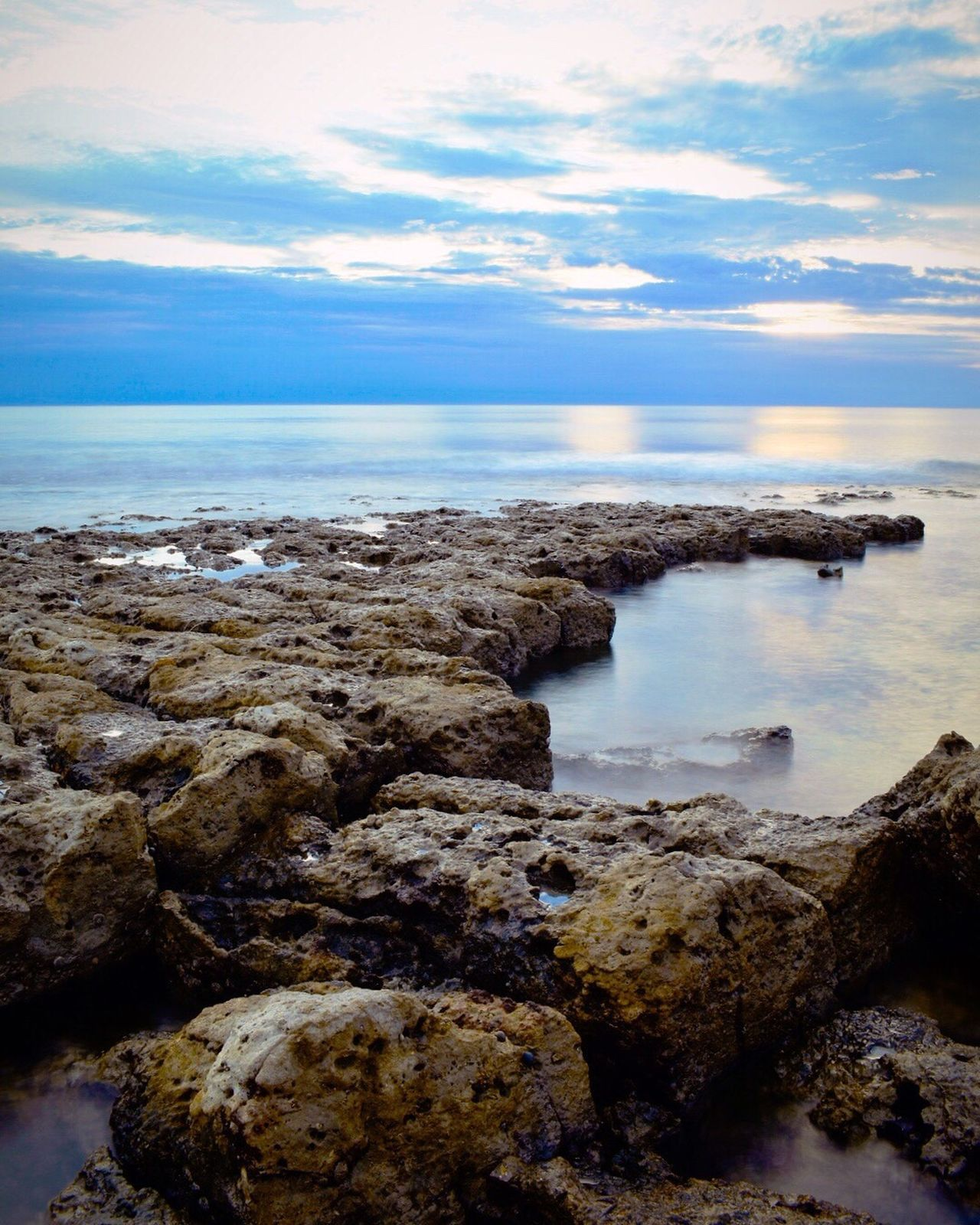Sea Nature Cloud - Sky Horizon Over Water Water Beauty In Nature Sky Scenics Rock - Object Geology Beach No People Coastline Outdoors Day