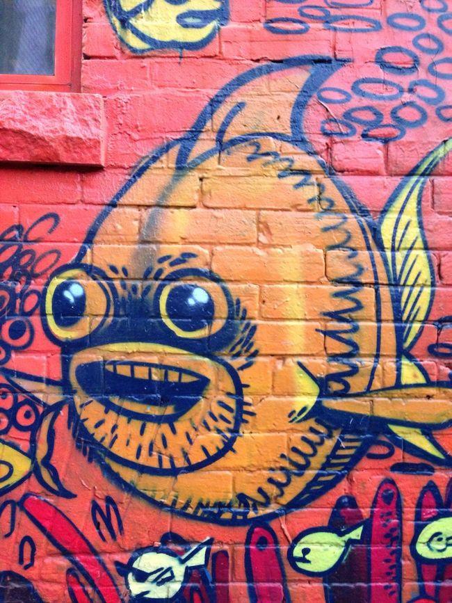 I See Faces Graffiti Fish