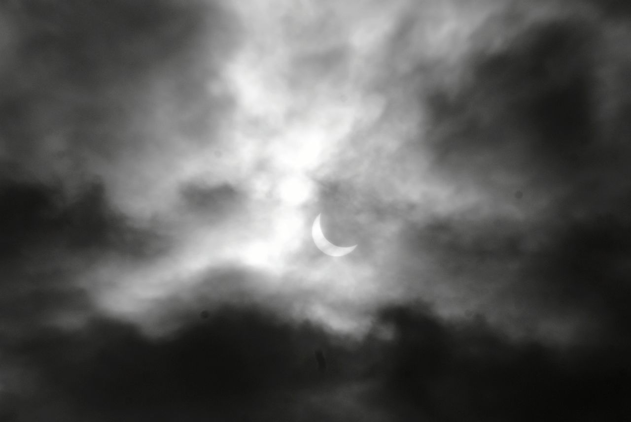 A little closer View at the Eclipse Sun Eclipse Sun Clouds Sky Nature Planets Star Photography Latvia Black And White