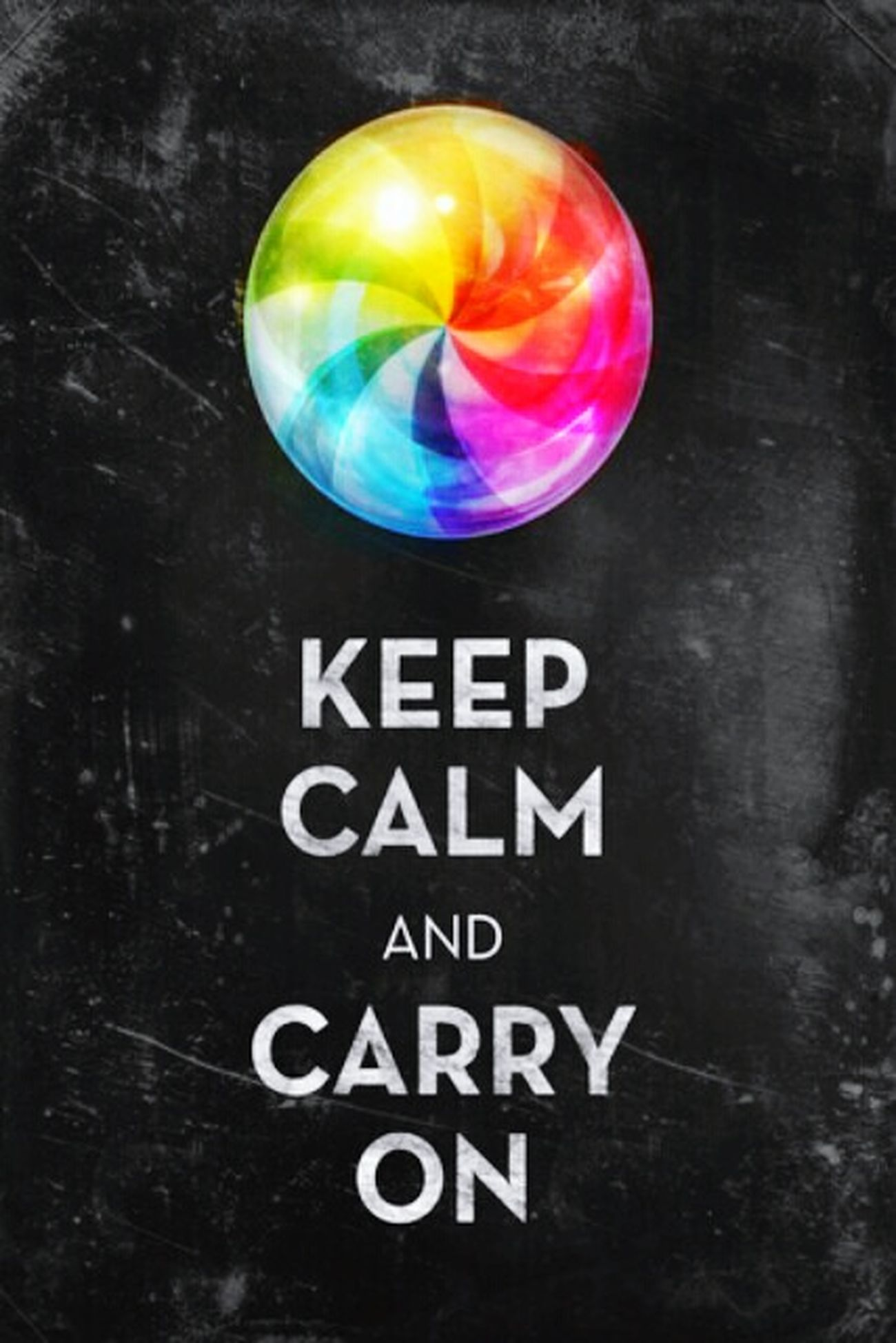 Keep Calm Carry On Splash Of Color