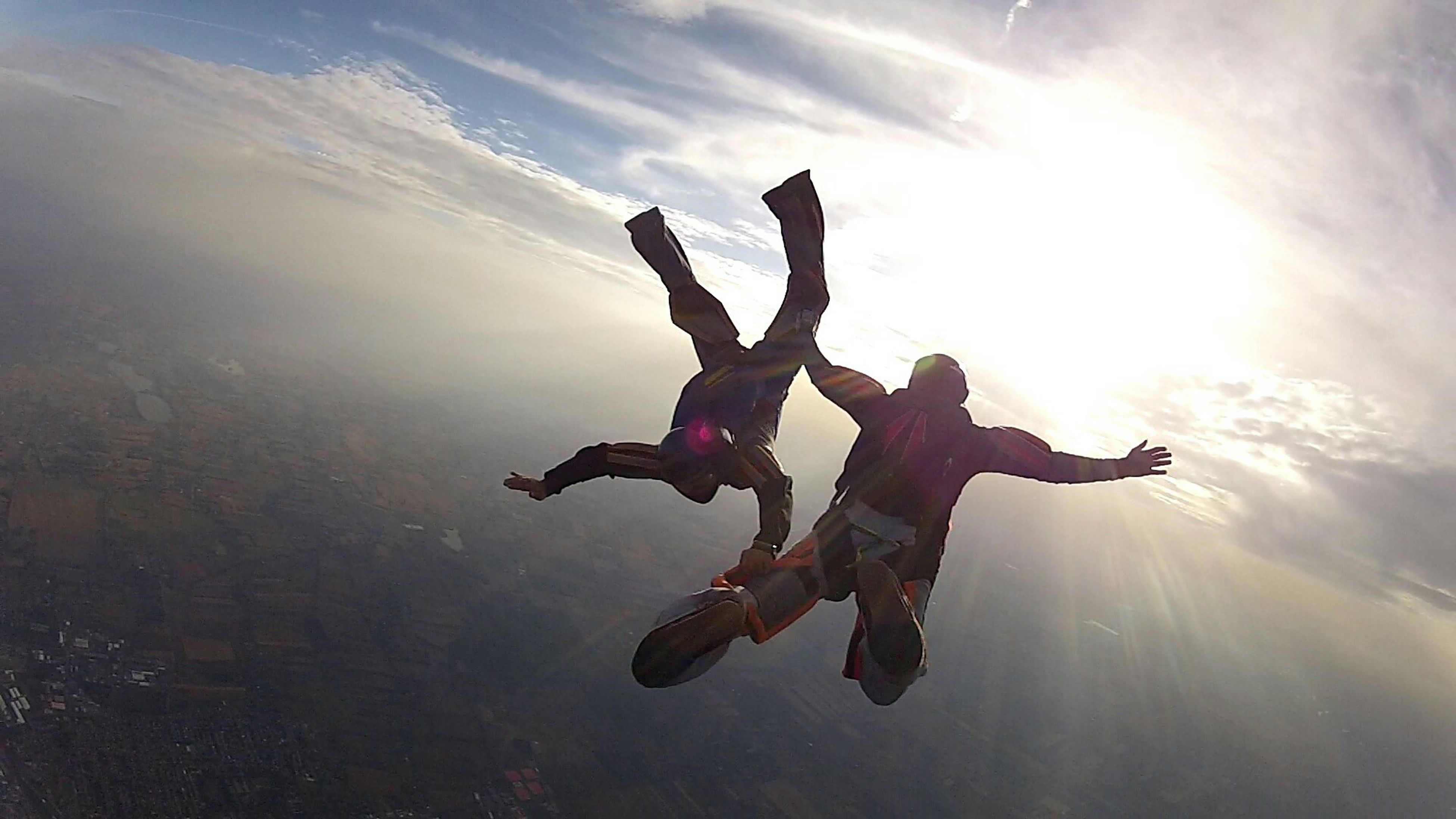 Adrenaline Junkie Sky Diving tht's Me. Afarid of Heights but i closed my eyes and jumped....wht feeling was tht can't tell u....i did it 2 times...and now i am nt afarid...all Credit goes to my Big Brother ..thanks bro for tht...i was feeling like touching the sky with my fingers.it is so peaceful up there.