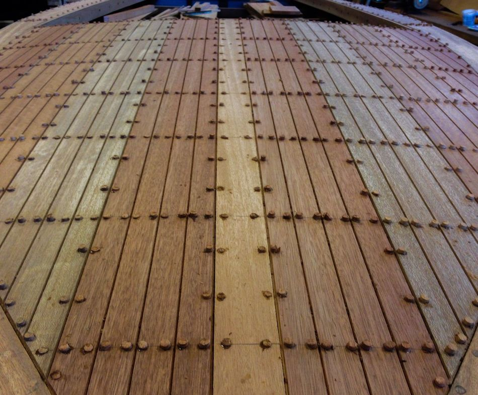 Shipwright Boat Building Teak Plank Plug Gig Harbor,wa