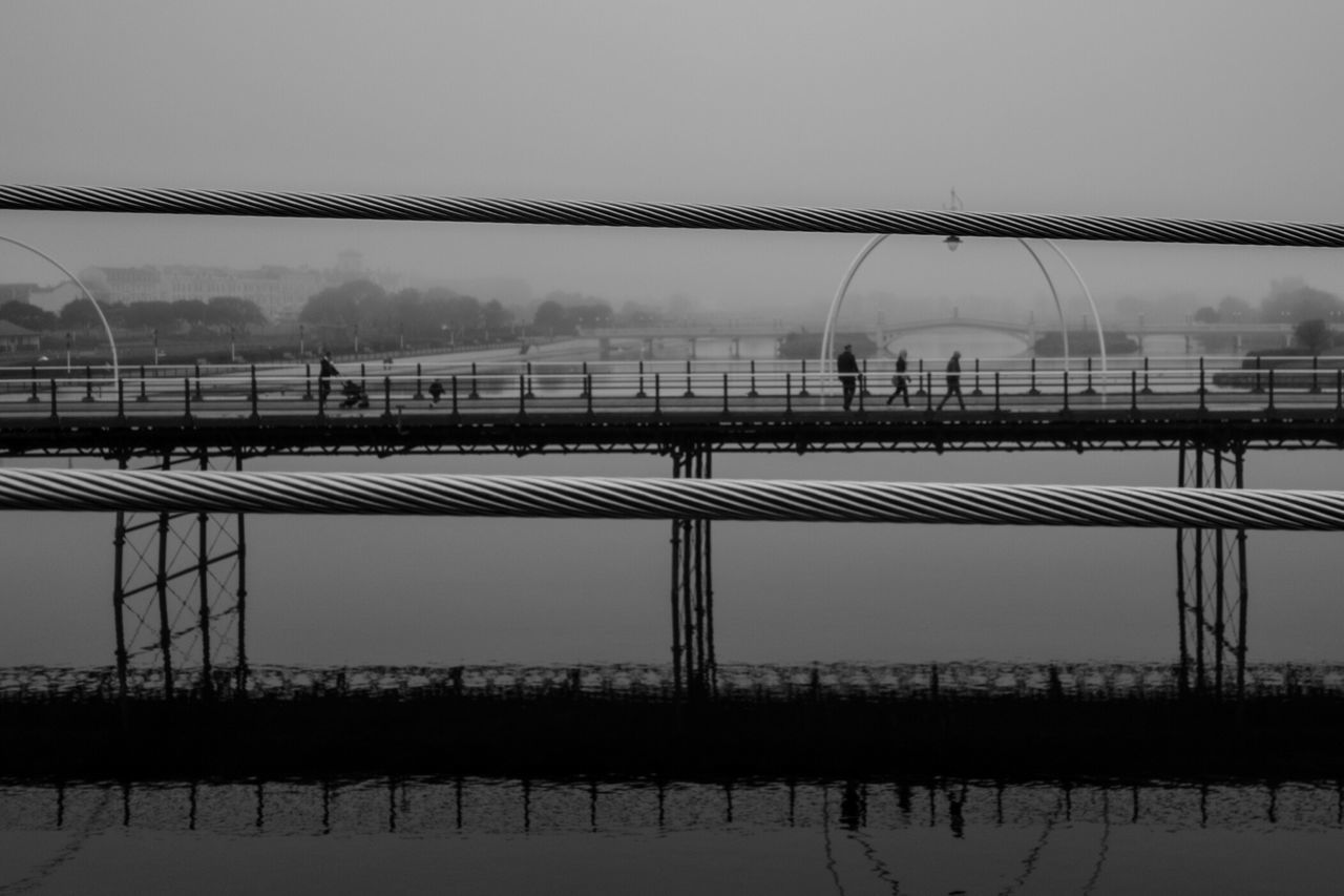 Southport Pier Marinelake Southport Foggy Foggy Morning