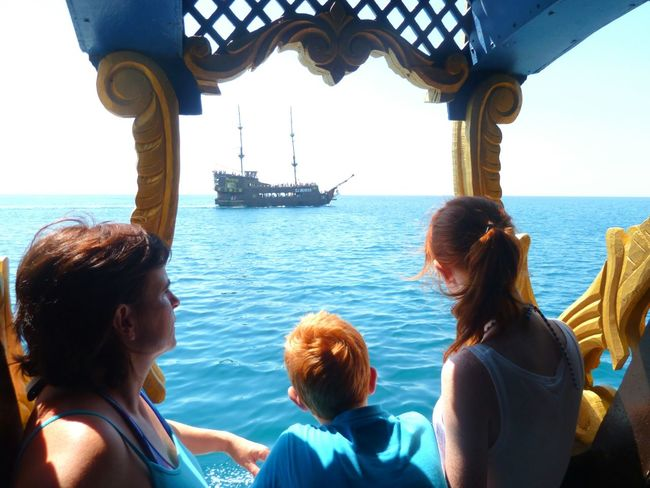 Our ship was following an other piratelike ship a few years ago on a vacation in the beautiful tunesia :) Serene Outdoors Sea Sea And Sky Seaside Ship The Following Blue Girl Boy Family Family Time Outdoors Vacation Time Tunesia Water Perspective Africa Redhead Hidden Gems  Hanging Out On The Way Adventure Club The Essence Of Summer Feel The Journey