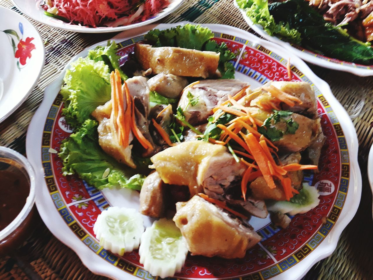 Food And Drink Food Healthy Eating No People Ready-to-eat Ceremony ThaiFoodGoodTaste Wedding Celebration Chinese Food Thaifood Freshness Chickens Chiken Salad