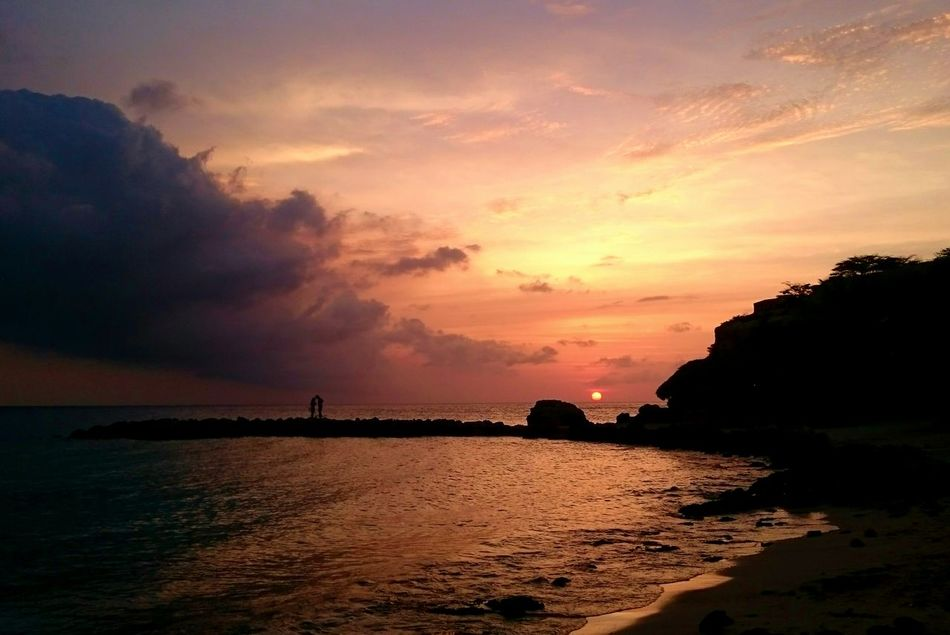 Sunset Silhouette Cloud - Sky Beauty In Nature Scenics Travel Destinations Vacations Sea Janthiel Vacation Destination Tranquil Scene
