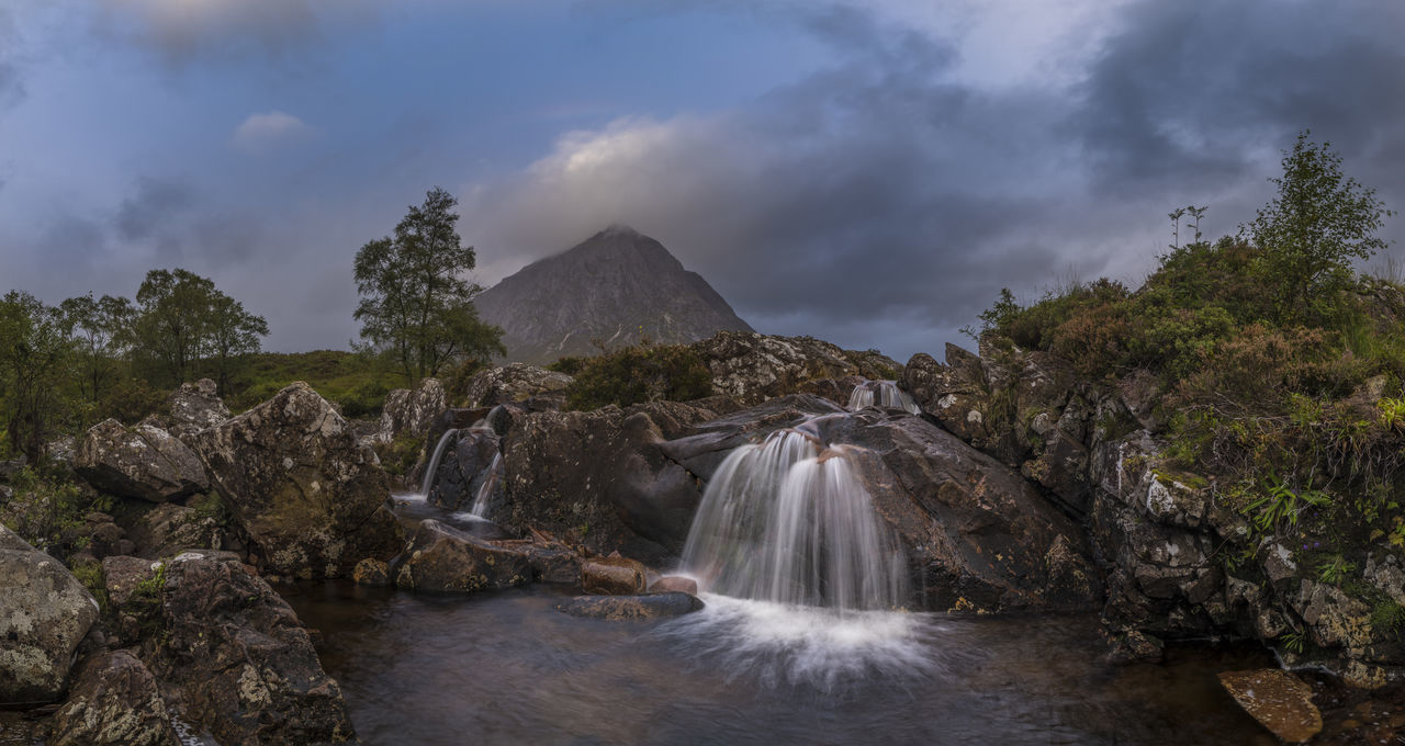 Beautiful stock photos of regenbogen,  Beauty In Nature,  Blurred Motion,  Buachaille Etive Mor,  Cloud - Sky