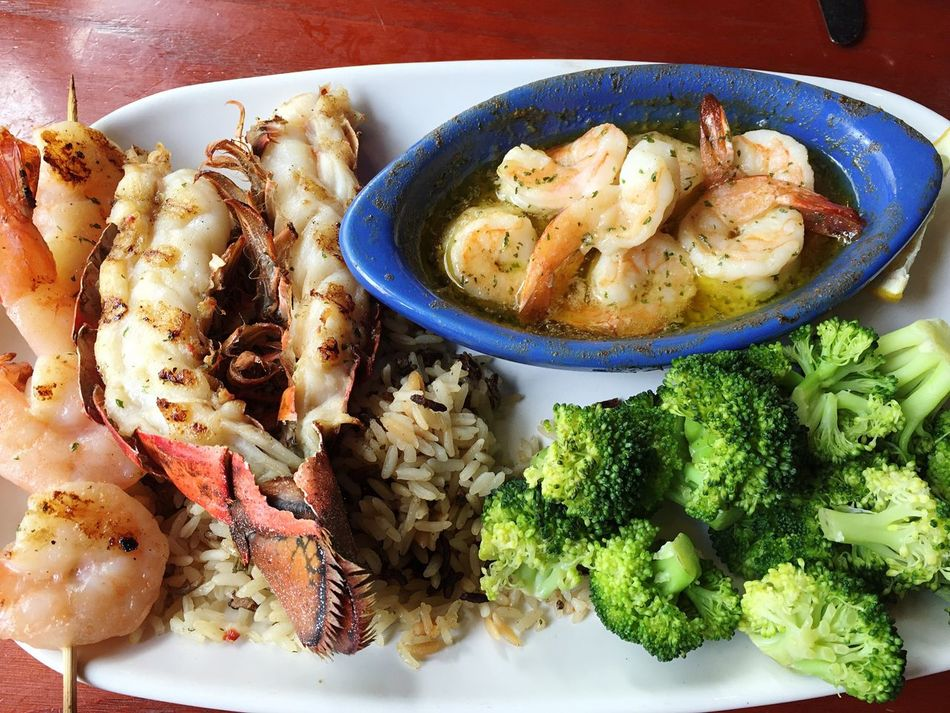 Hawaii Lobsters Shirimp Food And Drink Food Freshness Healthy Eating Ready-to-eat Plate Indoors  Broccoli Close-up No People Day Seaport