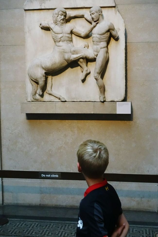 Young Man Child Wondering Why The Effort? Acient Sculture Acient Greece Hellenistic  British Museum . London