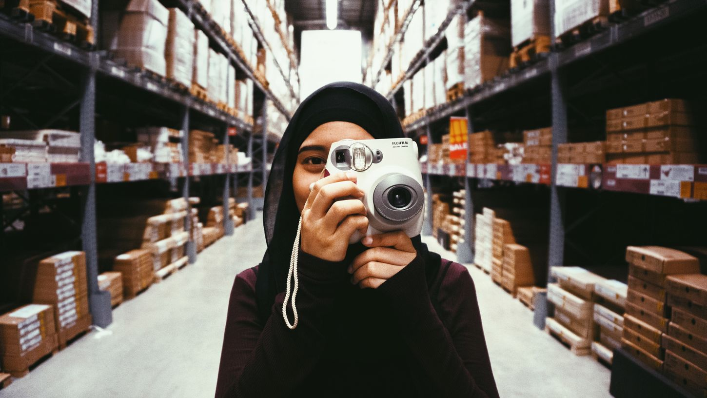 Woman Woman Portrait Photography Photo IKEA Camera Instax Sony Sony A6000 Sonyalpha Portrait Love Girl Muslim Muslimah Hijab Instagood Instamood First Eyeem Photo