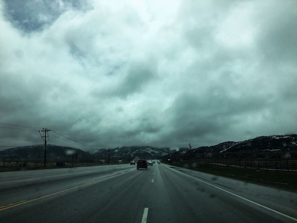 heading into the mountains