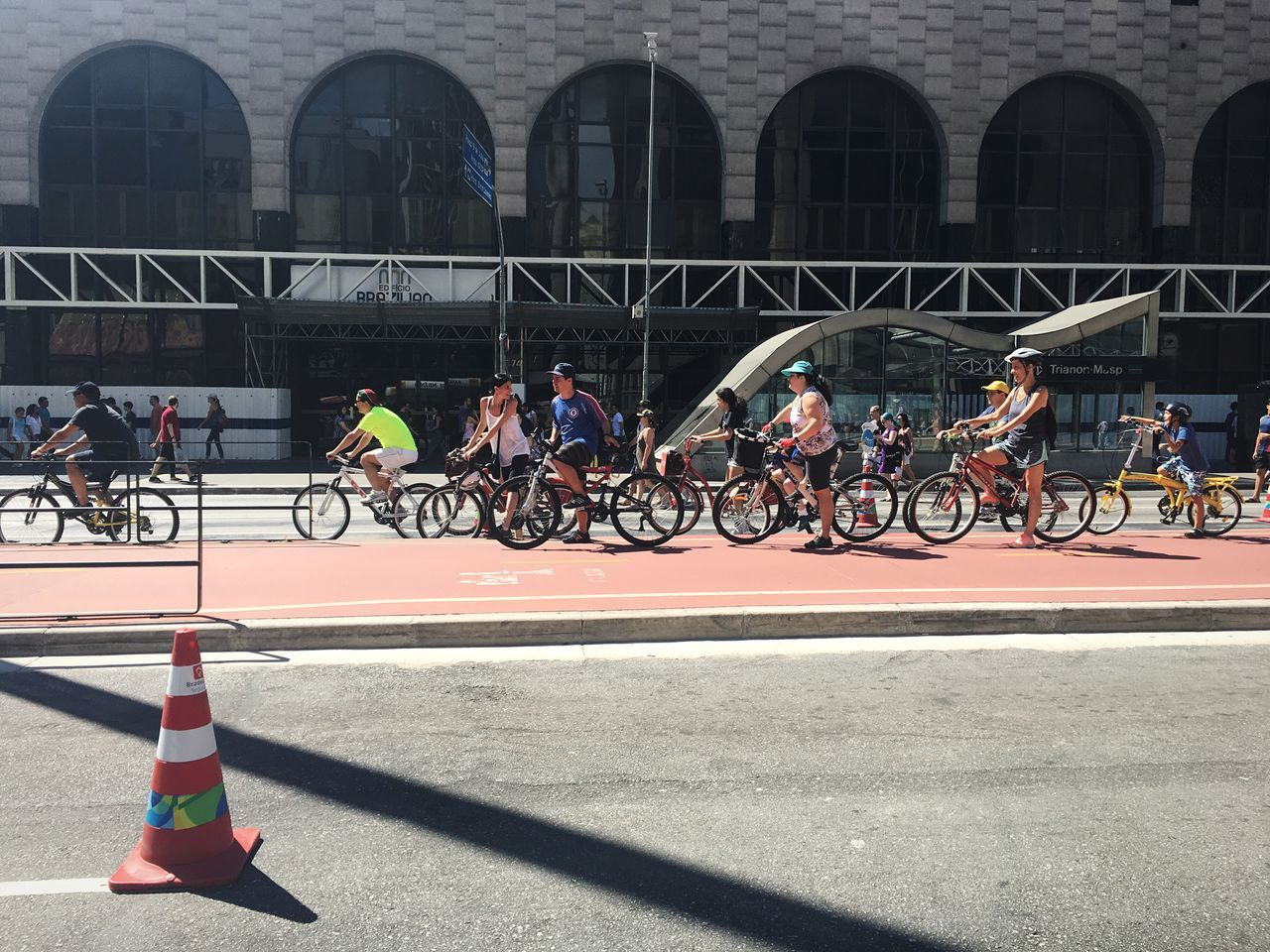 Athletes Riding Bicycles On Track