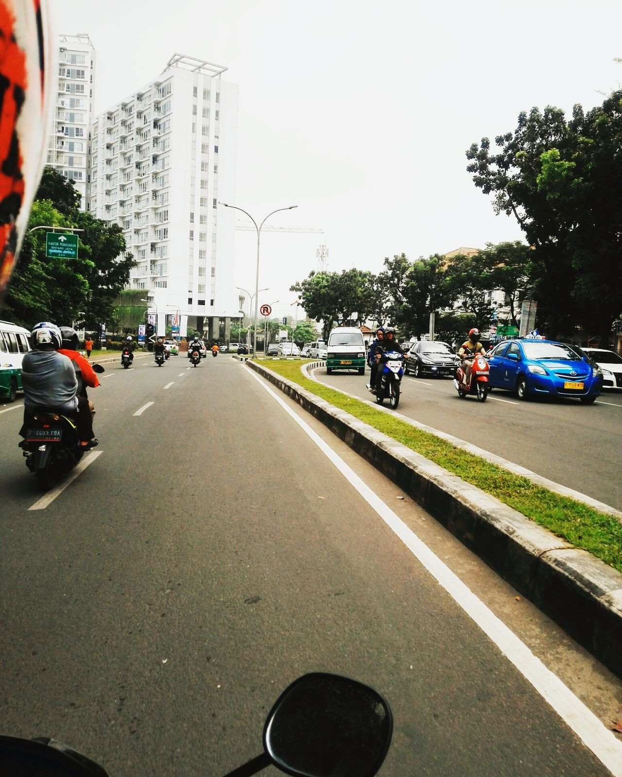 On The Bike On The Street Angkot Jakanan People On The Bike Bintaro INDONESIA