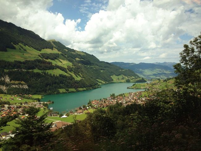 Mountain Sky Lake Landscape Nature Traveling Swiss Switzerland Train Moments