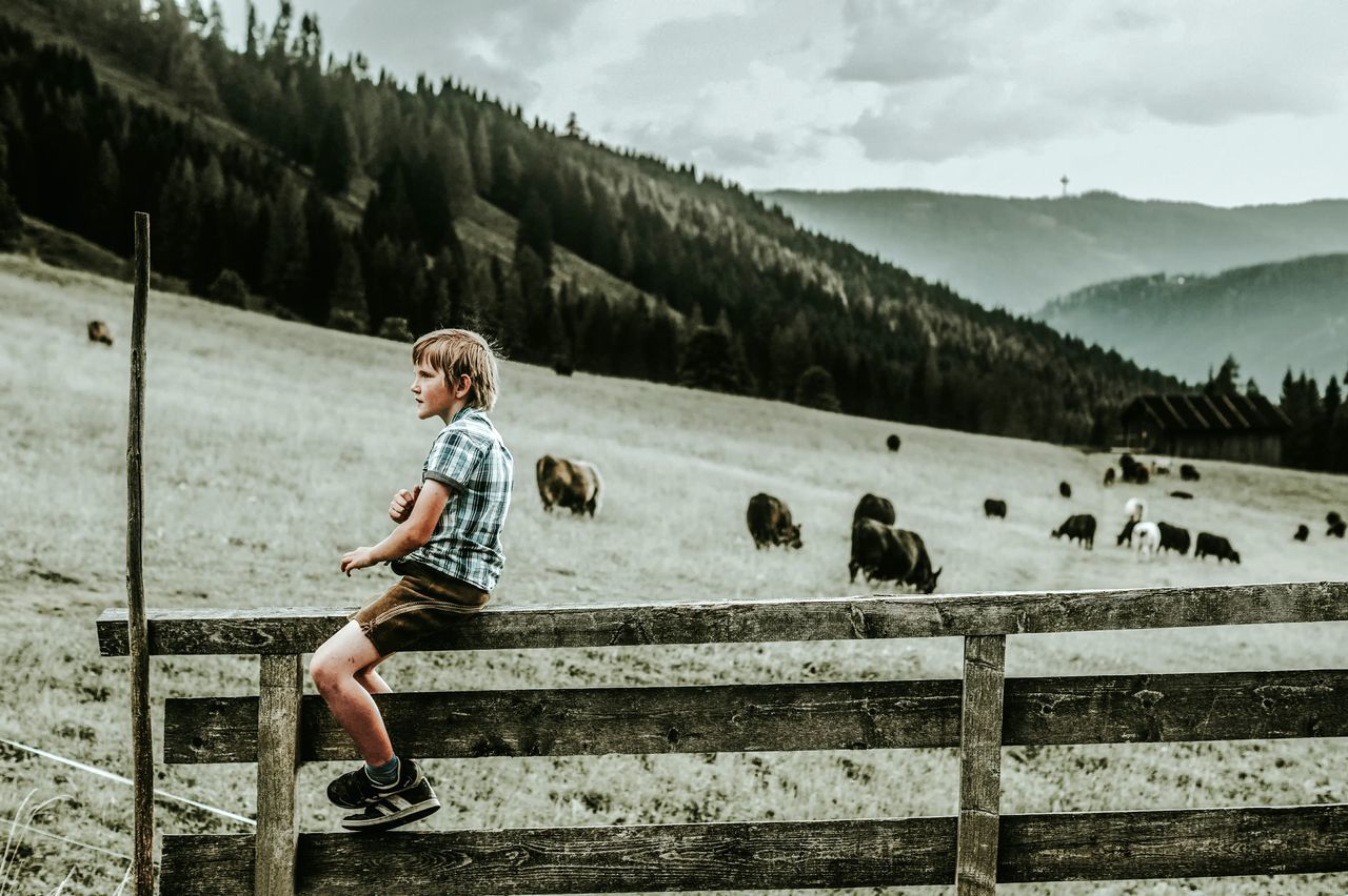 Full Length One Person People Motion Outdoors Childhood Adult Day Sport Children Only Young Adult Sky The Great Outdoors - 2017 EyeEm Awards The Week Of Eyeem Blond Hair Mountain Adults Only Sitting Indoors  Full Frame Wood - Material