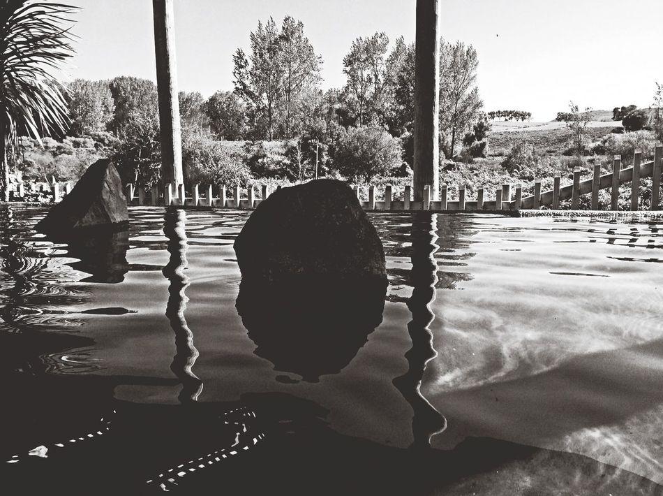 Water Reflections Blackandwhite Silhouette Monochrome