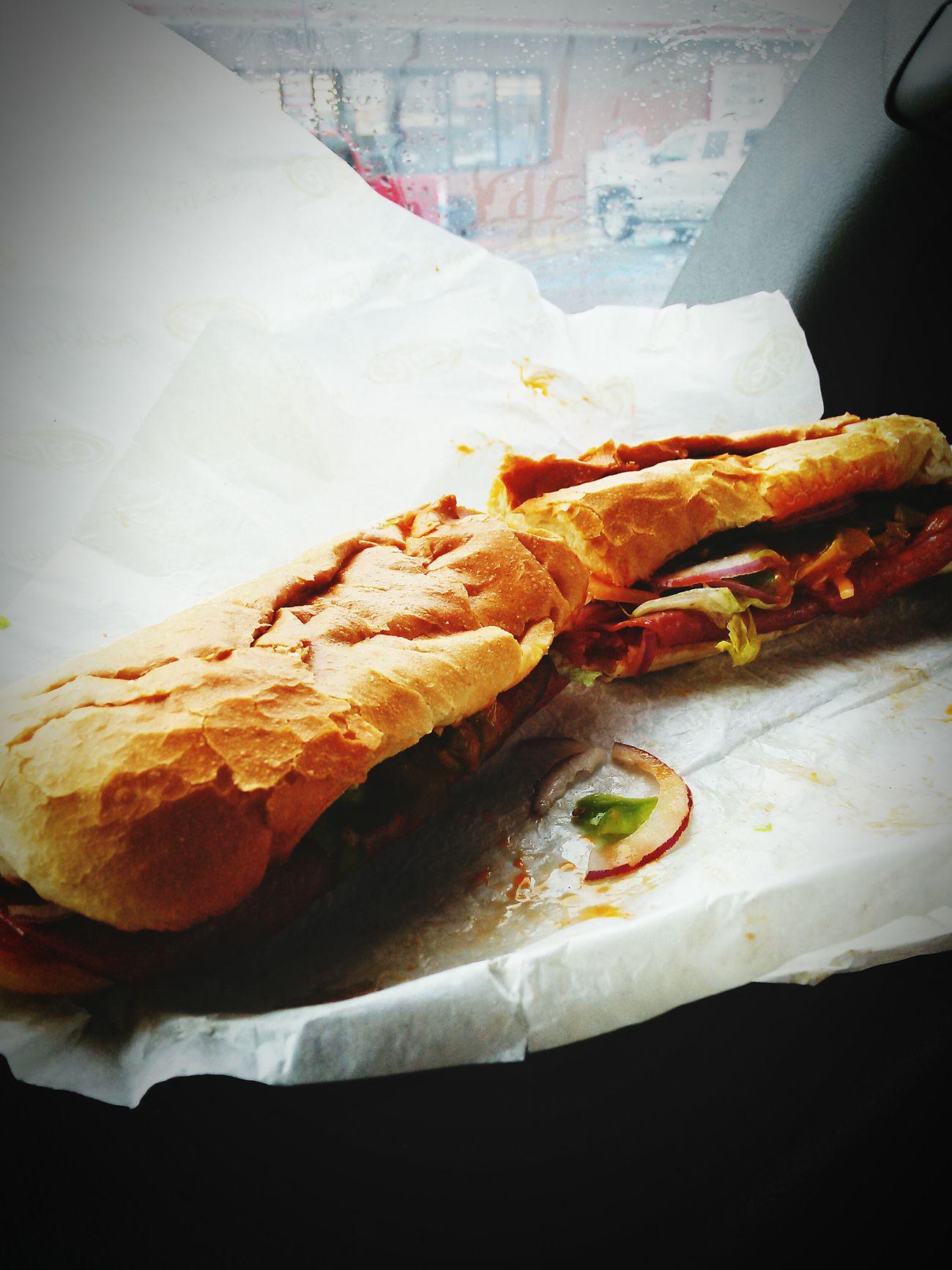 Enjoying my 12 in Speedy Cafe Italian Sub Yummy Food♡ Breakfast For Champions