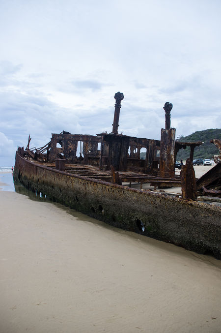 Abandoned Day Demolished Destruction Maheno Shipwreck Nautical Vessel No People Obsolete Outdoors Ruined Run-down Rusty Ship Shipwreck Sinking Sky
