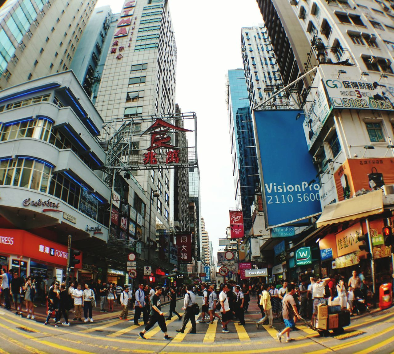 Hongkongstreet HongKong City Large Group Of People Building Exterior City Life Architecture Walking Pedestrian Travel Destinations People Outdoors Downtown District Crowd