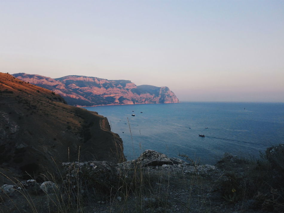 Sea Water Sky Nature Beach Beauty In Nature Sunset Landscape Outdoors No People Clear Sky Mountain Huawei Huawei Honor 6 Honor6 Nature Sevastopol  Севастополь Russia Sevastopol' Horizon Over Water Fresh on Market 2017 Beauty In Nature