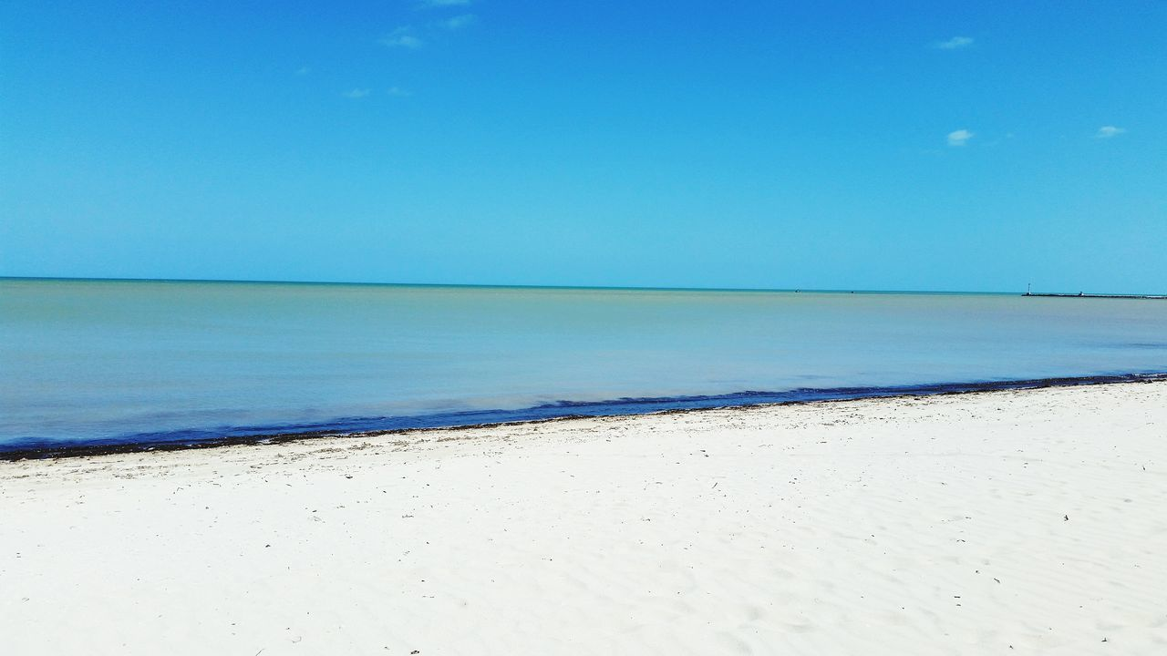 Yucatan Mexico Mexico Progreso Dzemul Ocean Caribbean Gulf Of Mexico Atmospheric Mood Relaxing Enjoying Life Caribbean Sea Seascape Sea And Sky Simplicity Landscapes With WhiteWall