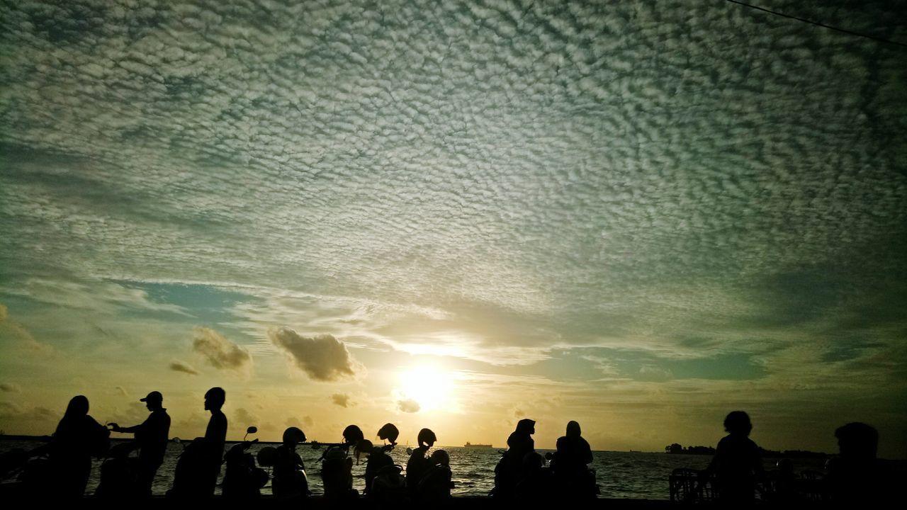 Sunset at Losari Beach Makassar