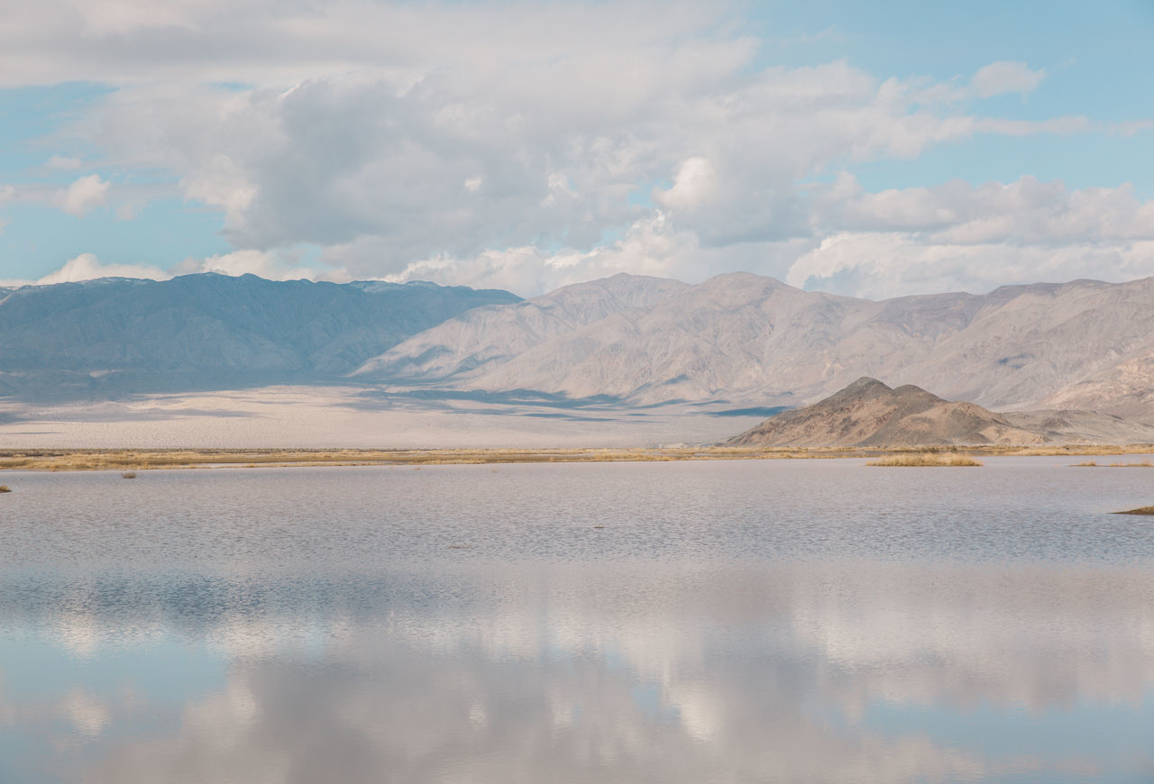 Arid Climate Arid Landscape Beauty In Nature Day Death Valley Death Valley National Park Desert Lake Landscape Mountain Mountain Range Mountains Nature Nature No People Outdoors Reflection Roadtrip Salt - Mineral Salt Flat Scenics Sky Tranquil Scene Tranquility Water
