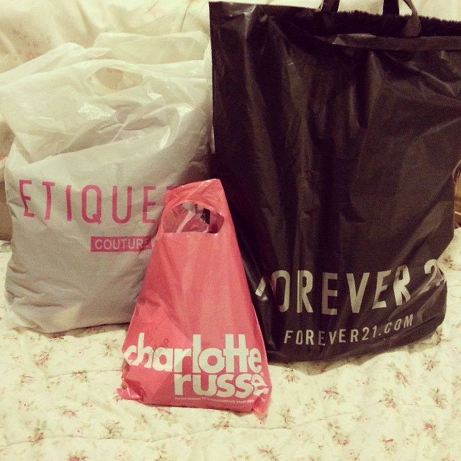 Its been forever since I last went out shopping! I forgot how good it feels! Thank you my honeybear! Forever21 Etiquette CharlotteRouse Imspoiled