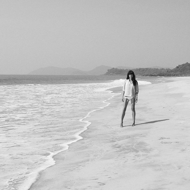 me & lonely Galgibaga beach in southern Goa Galgibaga beach Goa Monochrome Monochromeart