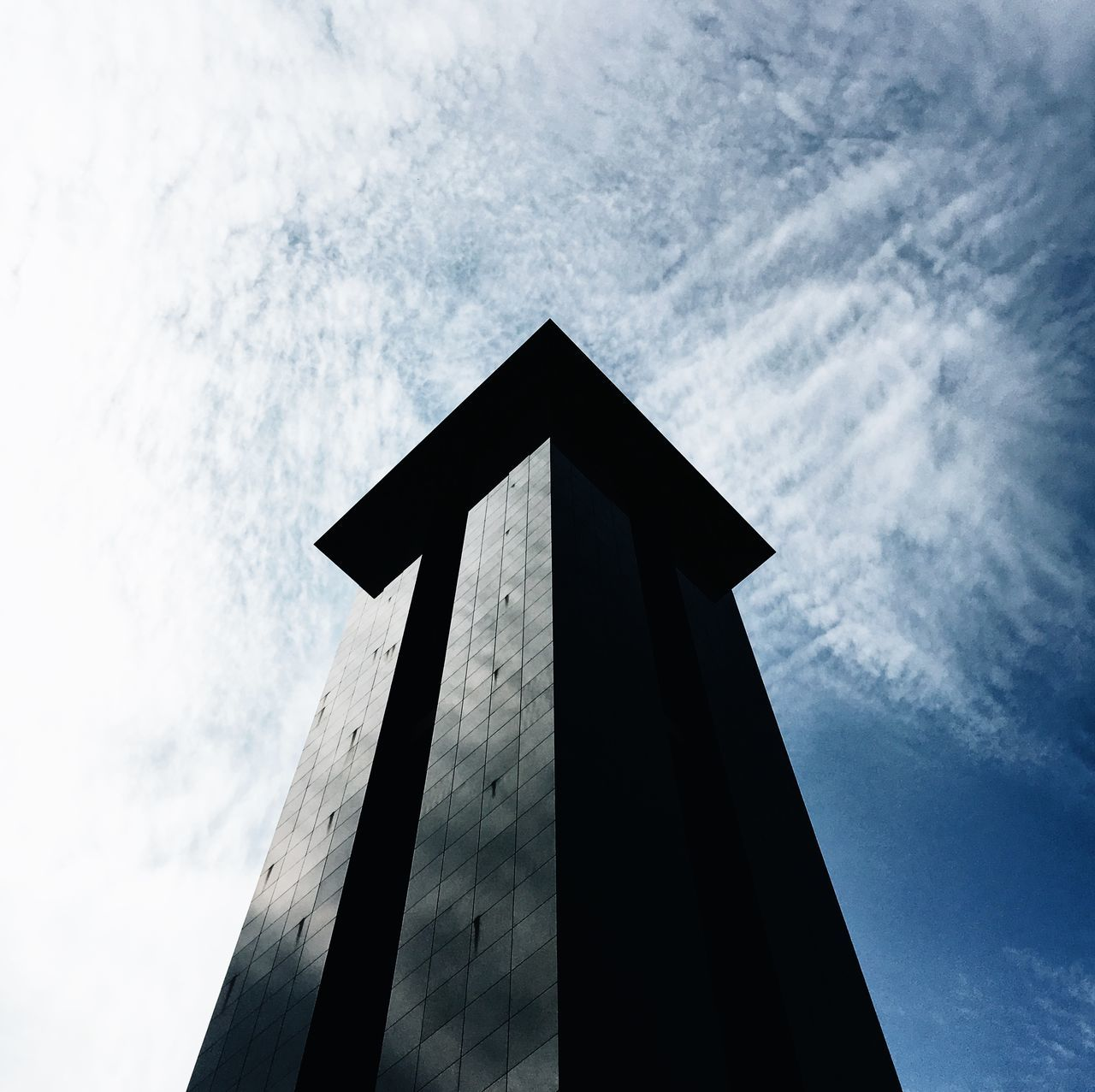 Architecture Berlin Blue Sky White Clouds City Urban Geometry Bell Tower Building Exterior Built Structure Contrast Edges Geometry Harsh Light Light And Shadow Low Angle View Modern Summer Sunny Day Tower
