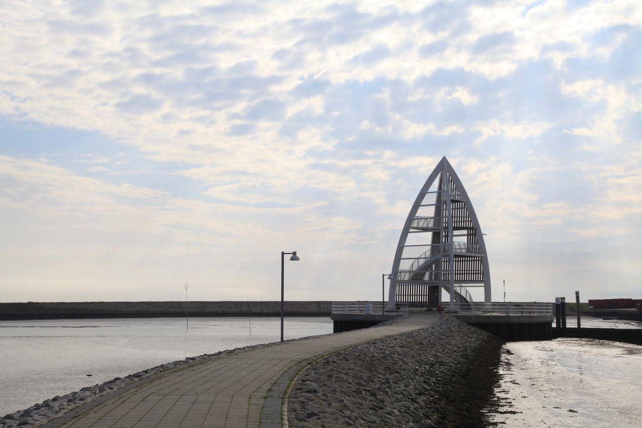 Hafeneinfahrt Calm Hafeneinfahrt Juist Pier Ruhe Sky Tranquil Scene Töwerland