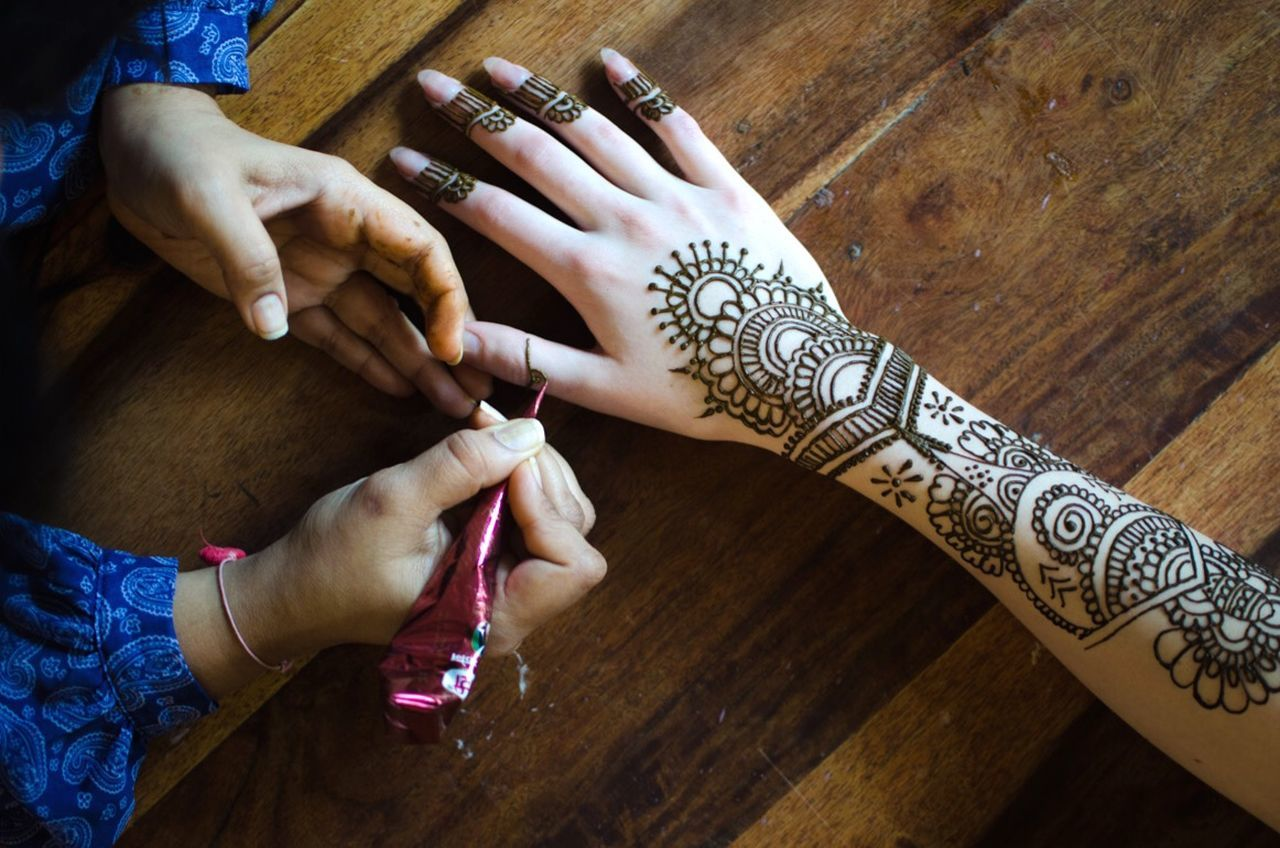 Precision Mehndi Henna Hands Hand ArtWork